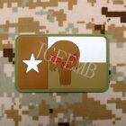USA The Texas punisher flag 3D PVC Velcro Patch 8cm*5cm JGF2005