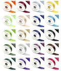 1 Metre Double Sided Satin Ribbon 3mm 6mm 10mm 15mm 25mm 38mm 50mm Many Colours