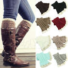Exquisite Crochet Knitted Lace Trim Toppers Cuffs Liner Leg Warmers Boot Socks