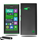 For Nokia Lumia 730 735 Armour Hard Shell Case Back Cover + Screen Film + Stylus