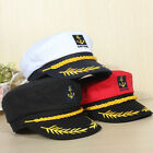 Adult Yacht Boat Captain Hat Navy Cap Ship Sailor Costume Party Fancy Dress New