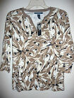 Shirt Blouse Top T-shirt KAREN SCOTT Berry Blossom White Tan Brown Black NEW