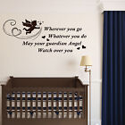 GUARDIAN ANGEL Wall Art Nursery Bedroom Sticker Baby Girl Boy Saying Gift Decal