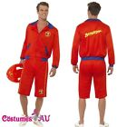 Mens Baywatch Beach Mens Lifeguard Short Jacket Licensed Costume Outfit