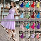 2015 Scoop Knee Length Bridesmaid Dress Party Ball Gown Prom dress Size 6-----16