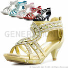 New Youth Girls Pageant Wedding Ball Party Heels 88(Youth 9 10 11 12 13 1 2 3 4)