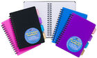 A4 A5 A6 PROJECT NOTEPAD Lined 100 Page Paper Notebook + 4 Part Subject Dividers