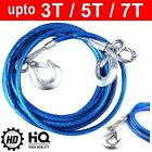 4M Heavy Duty Steel Tow Strap Towing Pull Car Van Road Recovery Rope 3 5 7 Tons