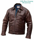 Luftwaffe leather FLYING JACKET brown argentine horsehide flight coat Pilots
