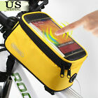"Roswheel Bicycle Pannier Frame Cycling Front Tube Bag For 4.8"" / 5.5"" CellPhone"