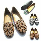 Womens Canvas Comfort Loafer Sandals Casual Ladies Ballet Flat Size Shoes 37-40