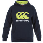 CANTERBURY Boy's Kid's Classic Over the Head Hoody Navy Lime Punch E752852 769