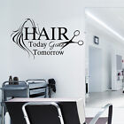 HAIR & BEAUTY SALON - Wall Art Sticker Hair Today Vinyl Decal Transfer Quote