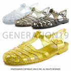 Womens Soft Retro Jelly Buckle Closure Strape Sandal Flats Style 28