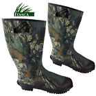 ITASCA Mens Wide Calf Fit Camo Wellington Hunting Boots Fishing Warm Wellies NEW