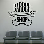 BARBER SHOP SIGN - Vinyl Hair Wall Art Window Sticker Transfer Scissor Mustache
