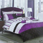 BRAND NEW GRANDIOSE STRIPE  DUVET COVER WITH PILLOW CASE QUILT COVER BEDDING SET