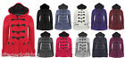 Womens Fleece Duffle Trench Pockets Plus size Coat Jacket