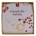 Infinity Sisters Necklace Gold Filled Bridesmaid Gift on Card