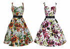 Classic 40's 50's Spring Summer Orchid Floral Vintage Style Dress New 8 - 26