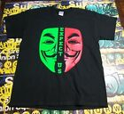 EXPECT US Anonymous Split Mask T-shirt 4Chan tee shirt Anarchy Anarchist ANON
