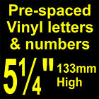 """QTY of: 10 x 5¼"""" 133mm HIGH STICK-ON  SELF ADHESIVE VINYL LETTERS & NUMBERS"""