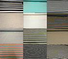 Stripe Viscose Jersey 2 Way Stretch Lycra Fabric Cotton Material Striped
