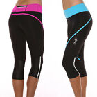 Ladies Cross Fit Circuit Gym active sport 3/4 capri tights Running Pants