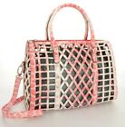 Cheetah FUCHSIA Laser Cut Boston 2-in-1 Bag