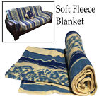 Soft Fleece Blanket Comfort Warm Cosy Bed Sofa Throw Over Cover Sleep Mattress