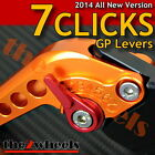 7 CLICKS Adjustable GP Levers Set KYMCO XCITING 400i