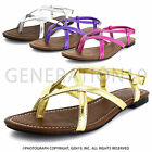 Brand New Womens Double Lines Ankle-Strap Gladiator Sandals