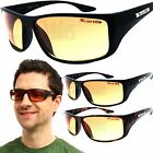 X-Loop HD Wrap Sunglasses Mens Golfing Fishing Glasses Sports Shades Amber Lens