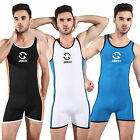 Men Leotards Bodysuit jumpsuit Swimwear One-piece Swimsuit wrestling singlet BEU
