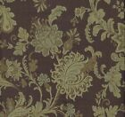 Brown Green Twin Cotton Floral Duvet Cover, Portugal 540TC Jacquard, New in pkg image