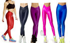 AU STOCK SEXY HIGH RISE METALLIC SHINY NEON ROCKABILLY PANTS LEGGINGS P025