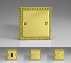 Georgian Brass Plated Classic Light Switches 10 Amp 2-Way -Gang & Switch Options