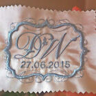 Embroidered Label for Wedding Dress Bride Groom - Something Blue - Personalised