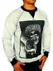 NEW MENS GREY CREW NECK JUMPER LA CHICK PRINTED SWEAT SHIRT REBEL SWAG CASUAL