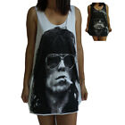 Unisex Keith Richards Vest Tank Top Singlet Sleeveless T-Shirt Dress
