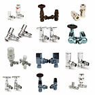 "15mm x ½"" Radiator Valves - Angled & Straight - Thermostatic & Manual"