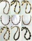 """ETHNIC INSPIRED: MENS CREAM BRACELET NECKLACE SIZES 18-40"""" SURFER, AFRICAN STYLE"""