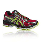 Asics Gel-Nimbus 16 Mens Red Black Lightweight Cushioned Road Running Shoes New