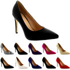 Womens Smart Low Mid Heel Office Work Court Shoes Pointed Toe Ladies UK 3-9