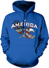 America Star Eagle Red White Blue Flag Colors USA Pride Fourth Hoodie Sweatshirt