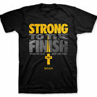 New Christian T-Shirt Kerusso Strong To The Finish Jesus Religious Faith Adult