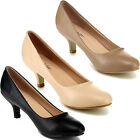 BELLAMARIE NINE-8 Women Comfy Basic Slip On Pump Party Dress Kity Heel Shoe