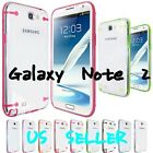 Hybrid Ultra-thin Clear HARD Case Cover Skin For Samsung Galaxy Note 2