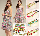 Boho Style Floral Flower  Women Girls Hairband Headband Festival Party Wedding