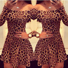 Hot Sexy Women Bandage Bodycon Evening Sexy Party Cocktail Mini Leapord Dress NC